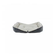 All For Paws Herringbone Boat Bed S Grey