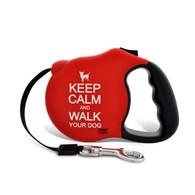 Avant Garde retractable leash, Keep Calm