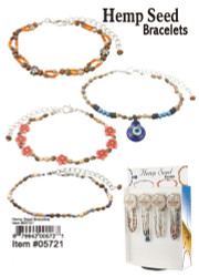 Hemp Seed Bracelets, Assorted