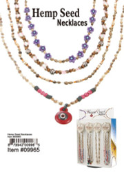 Hemp Seed Necklace, Assorted