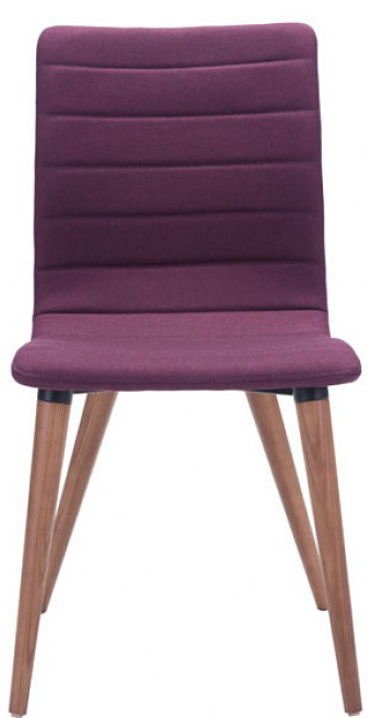 100275 zuo purple jericho dining chair