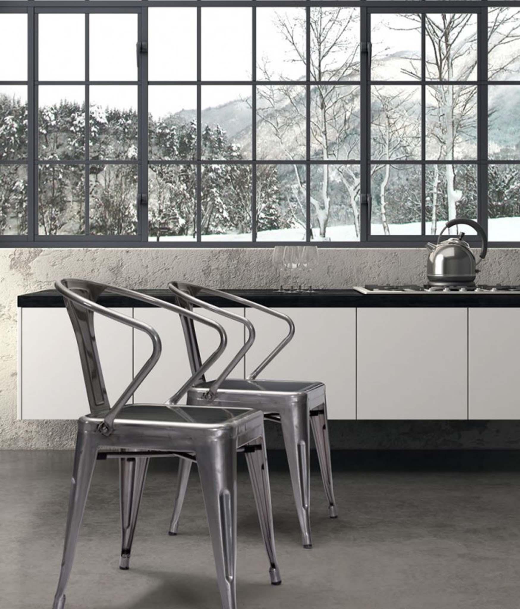 helix gunmetal dining chair