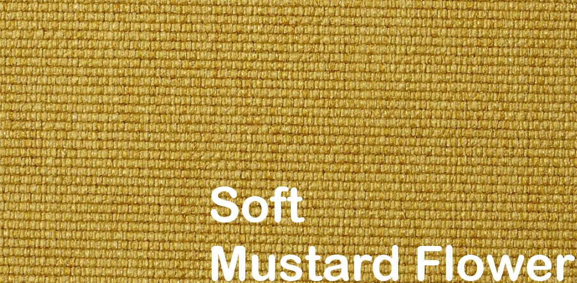 soft mustard flower pattern