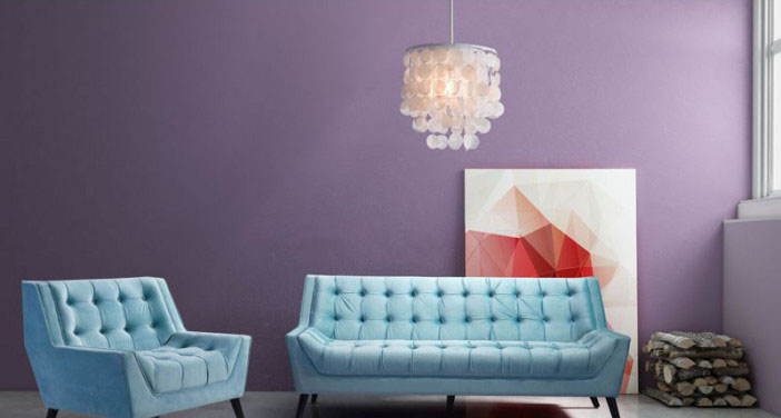 lifestyle shot f the shell ceiling lamp