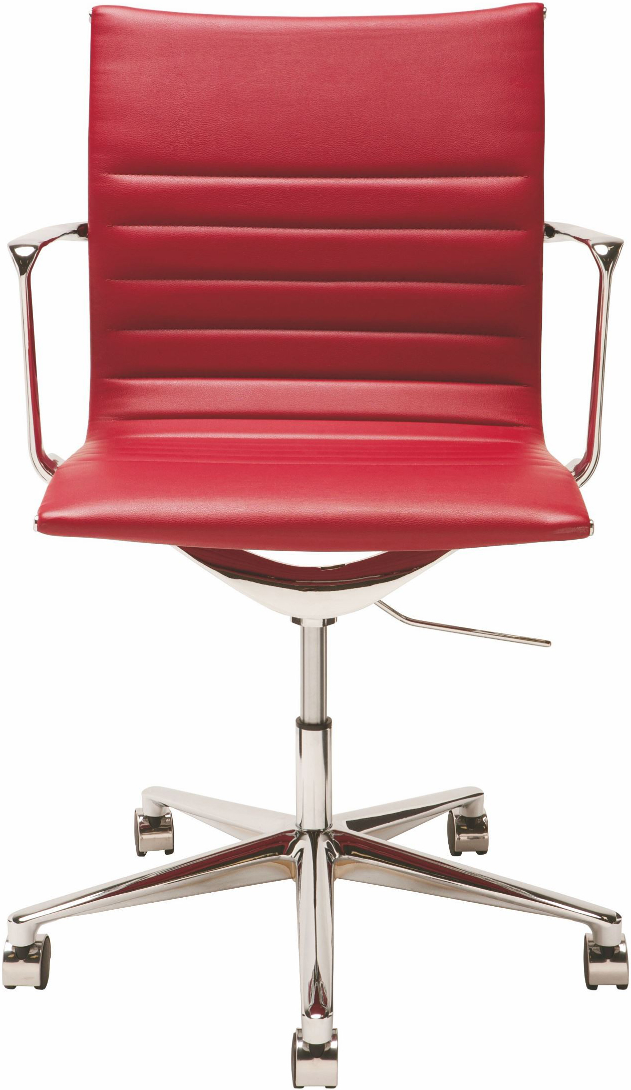 the antonio office chair in deep red