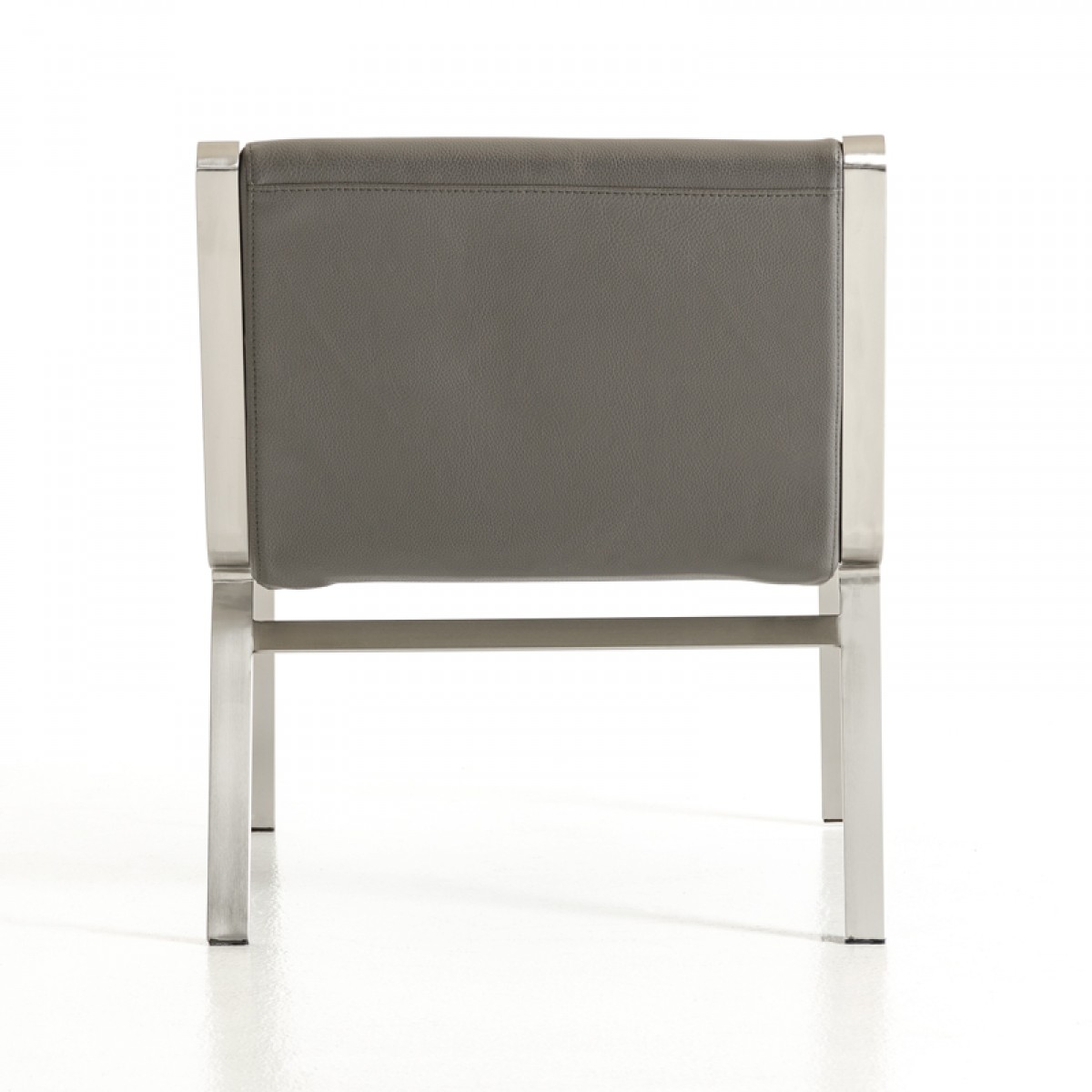 back of jerry bonded leather accent chair grey