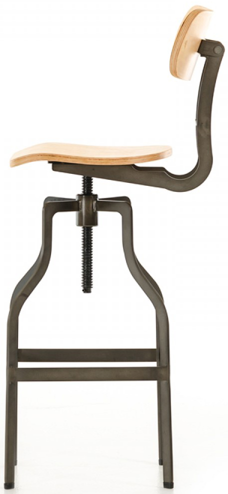 The bar stool wooden frame is made for long lasting use.