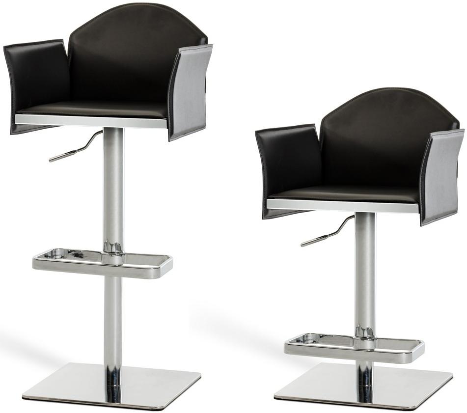 discount black adjustable bar stool