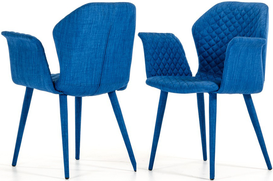 The Adamo Blue Fabric Dining Chair is the perfect choice for most all dining areas!
