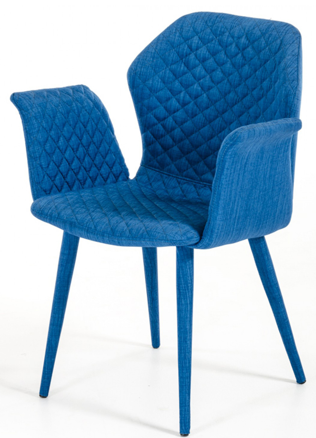 The Adamo Blue Upholstered Dining Chair is available at AdvancedInteriorDesigns.com