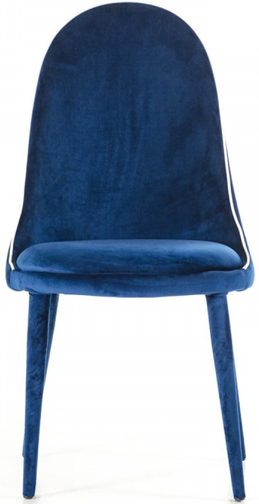 blue velvet dining chair