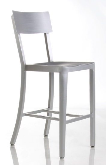 Cafe Aluminum Counter Stool Front View
