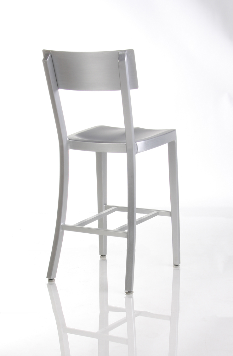 Cafe Aluminum Counter Stool-Back View