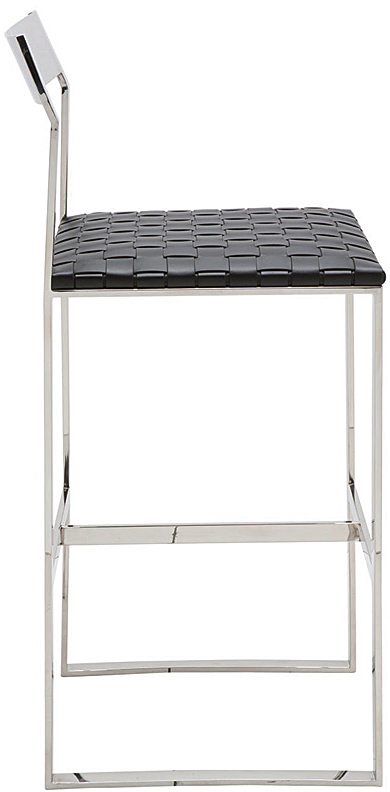 black camille counter stool by nuevo living