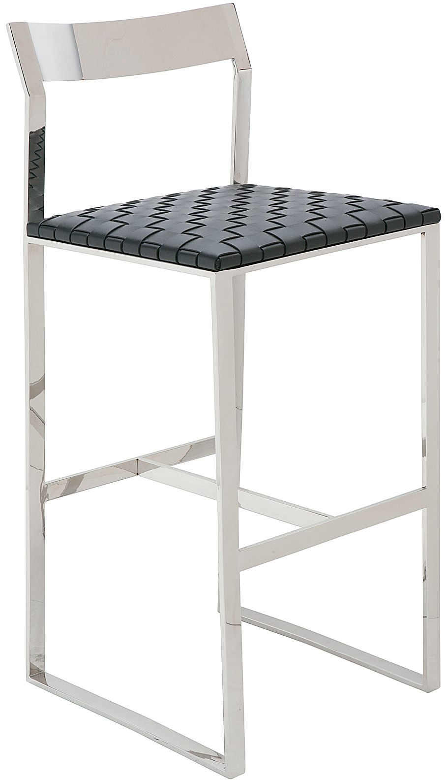 the camille counter stool in black