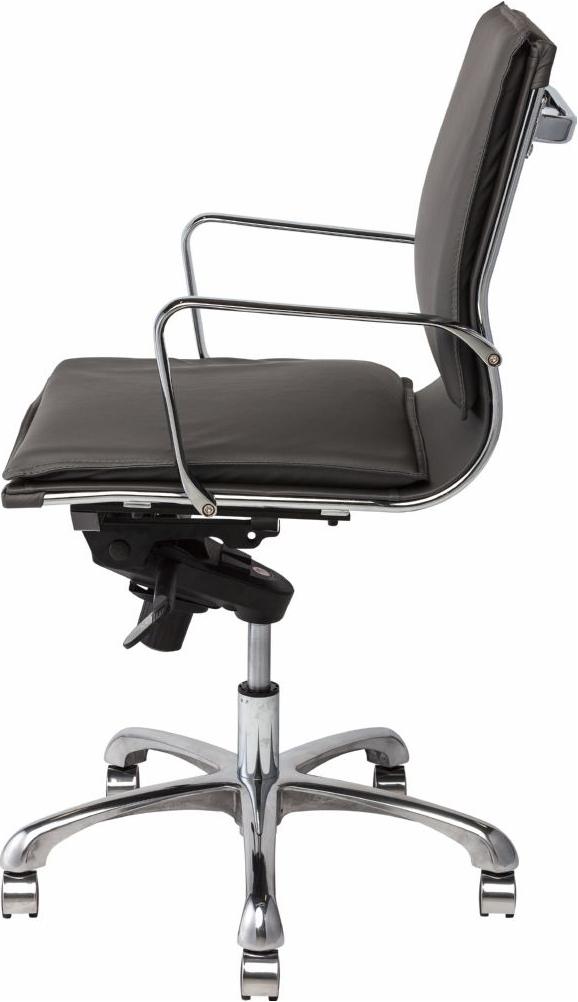 the carlo office chair in dark grey