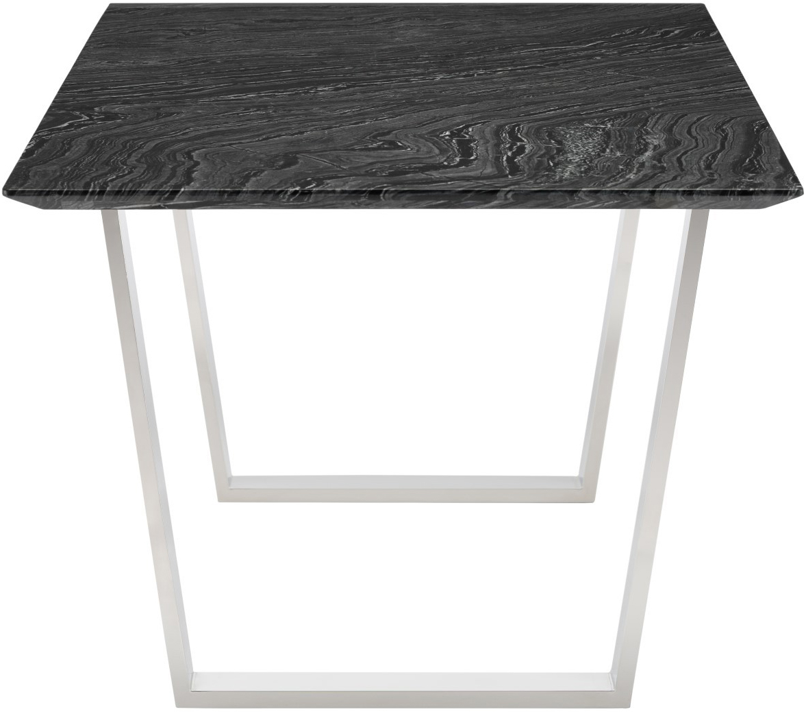 the nuevo catrine dining table black stainless steel