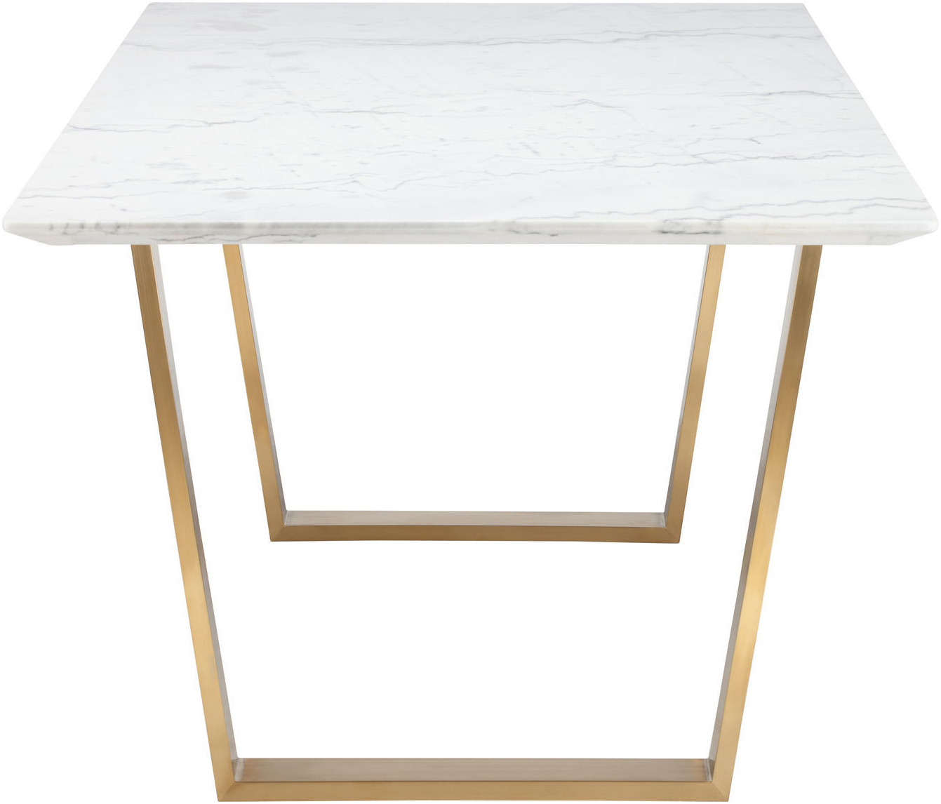 nuevo catrine dining table white gold