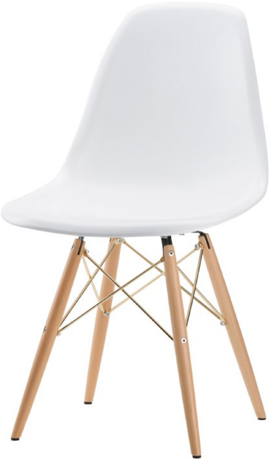 the charlie dining chair in white