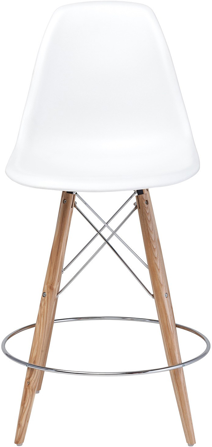 the charlotte counter stool in white