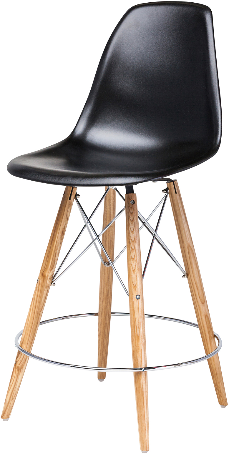 the charlotte counter stool black
