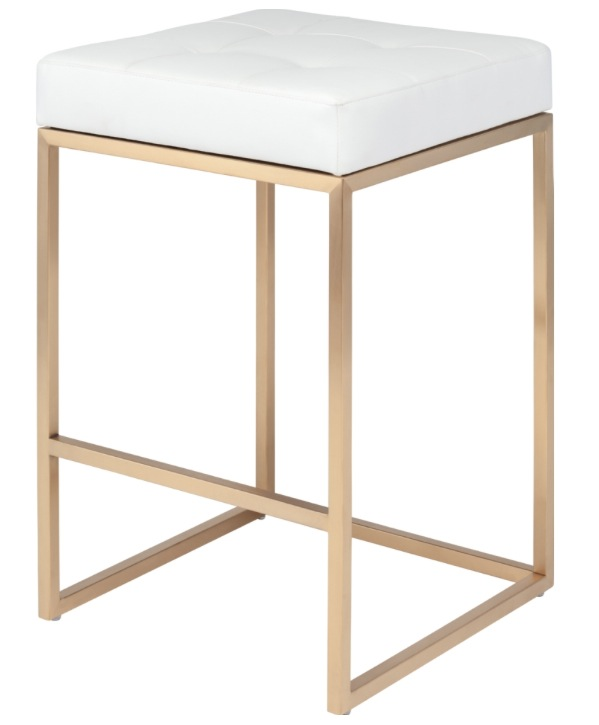 Chi Counter Stool In Gold Frame Modern Bar Stool