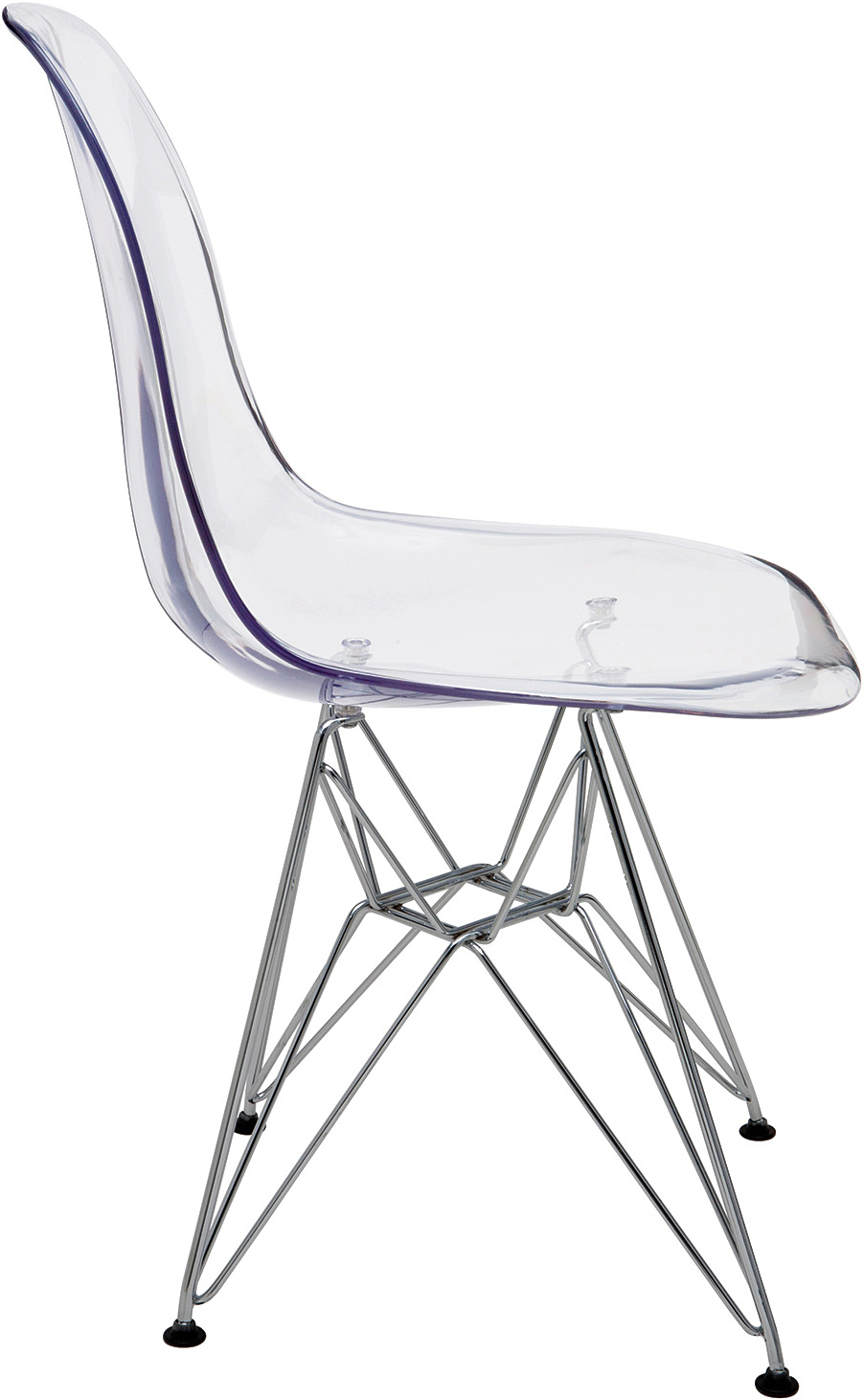 beautifully engineered clear molded chair