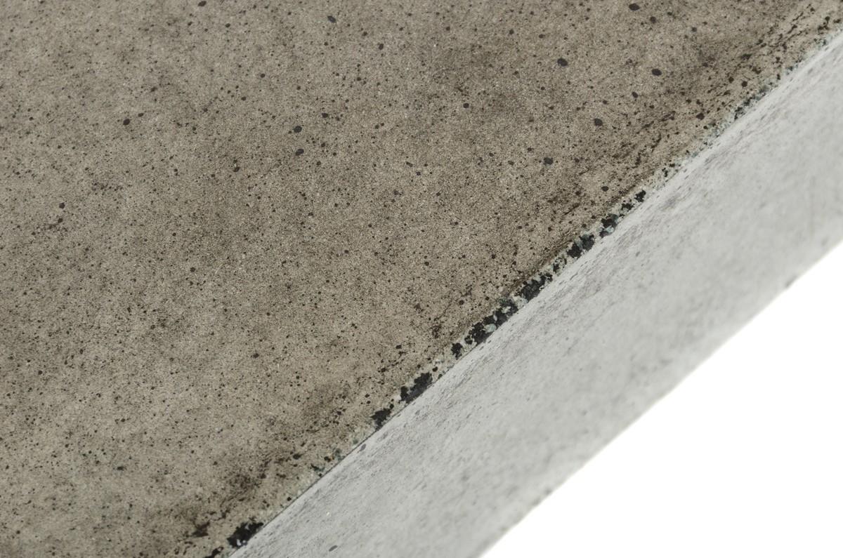 close up shot of the benciveni concrete top coffee table