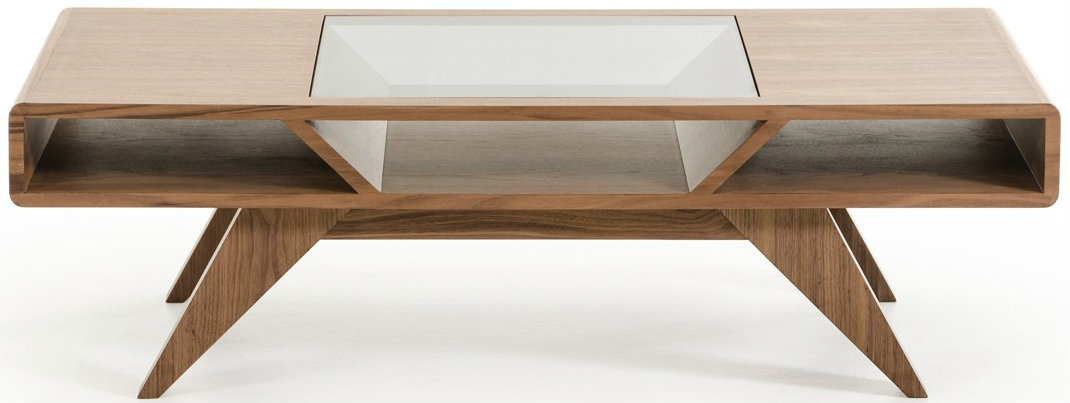 Check out the Niel coffee table in walnut finish