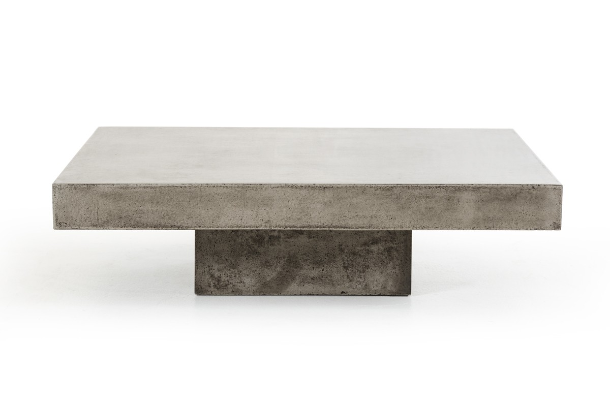 New solid concrete square coffee table made to last. Available for indoor and outdoor use.