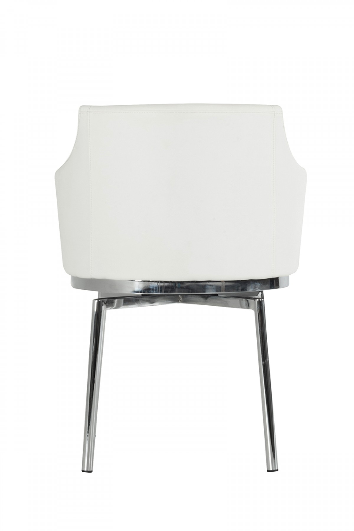 new low priced cynthia white swivel dining chair at advanced interior designs