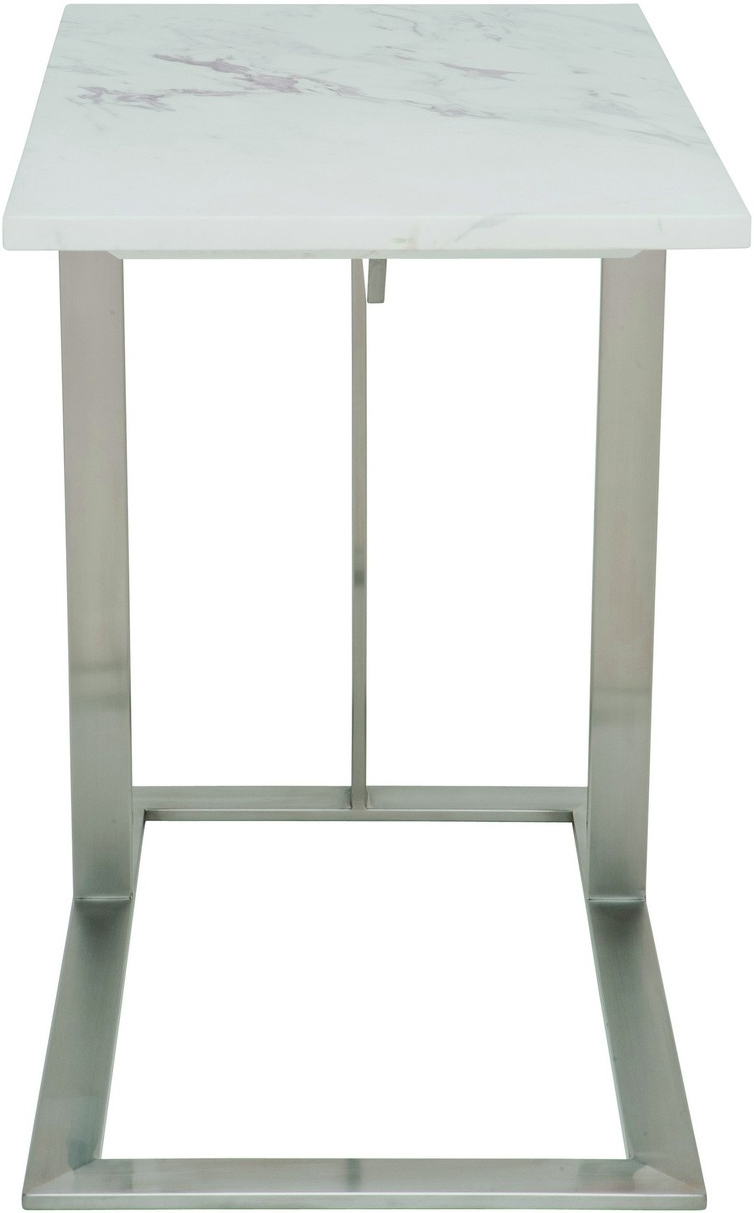 dell side table white marble