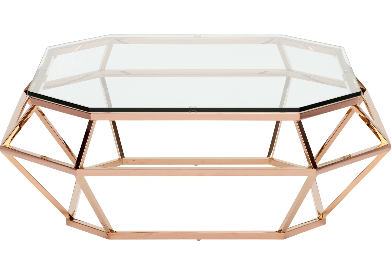 Nuevo Diamond Square Coffee Table Stainless Steel Or Rose