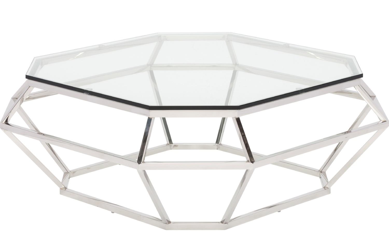 Nuevo Diamond Square Coffee Table Stainless Steel Or Rose