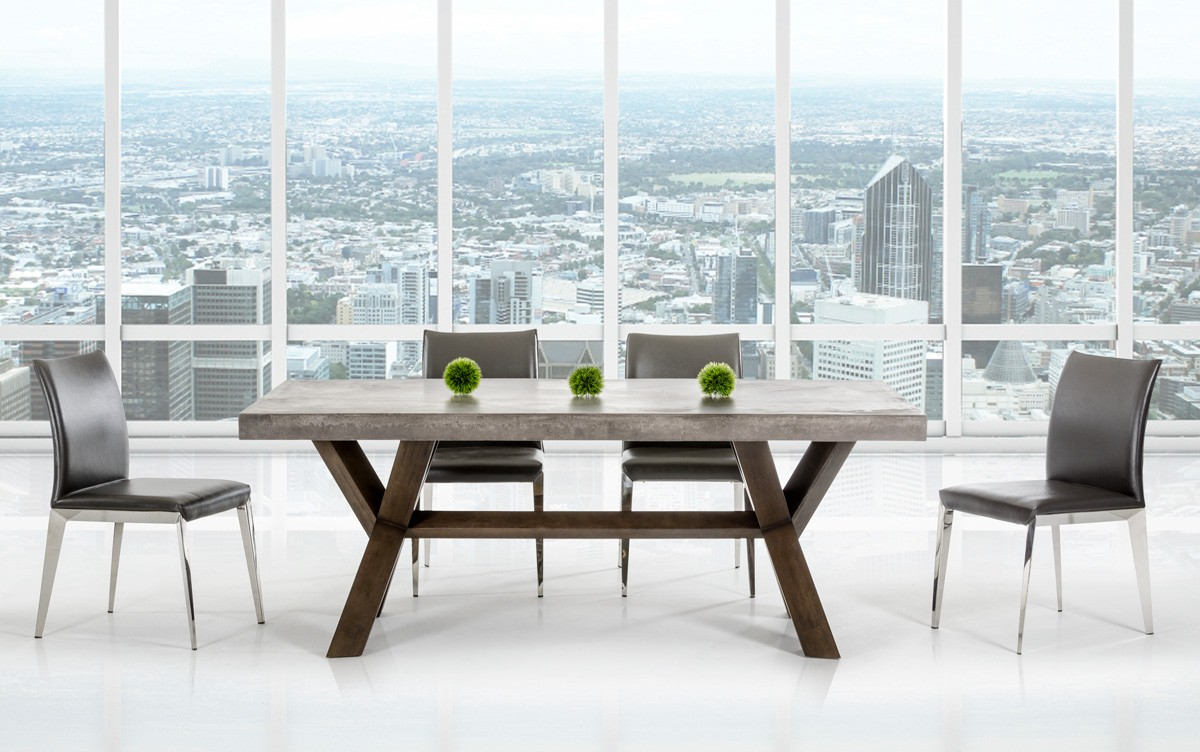 If you're looking for a dining table with a concrete top for your dining area, The Adonis Dining Table is the perfect choice.