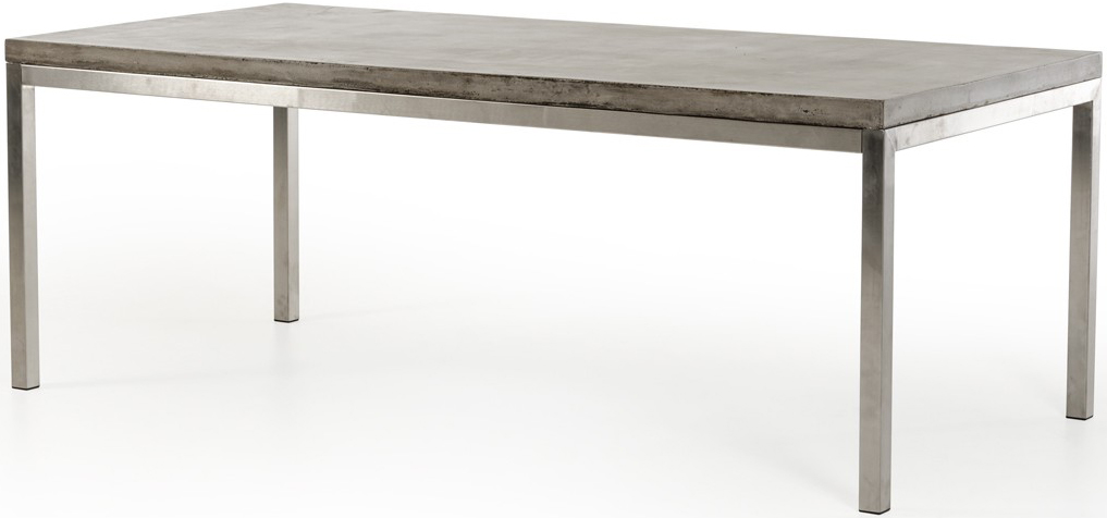 Check out the new dining table with concrete top available at AdvancedInteriorDesigns.com