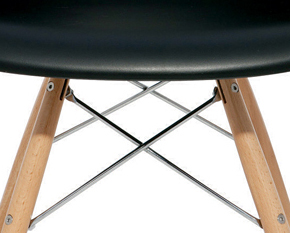 the earnest dining chair in black