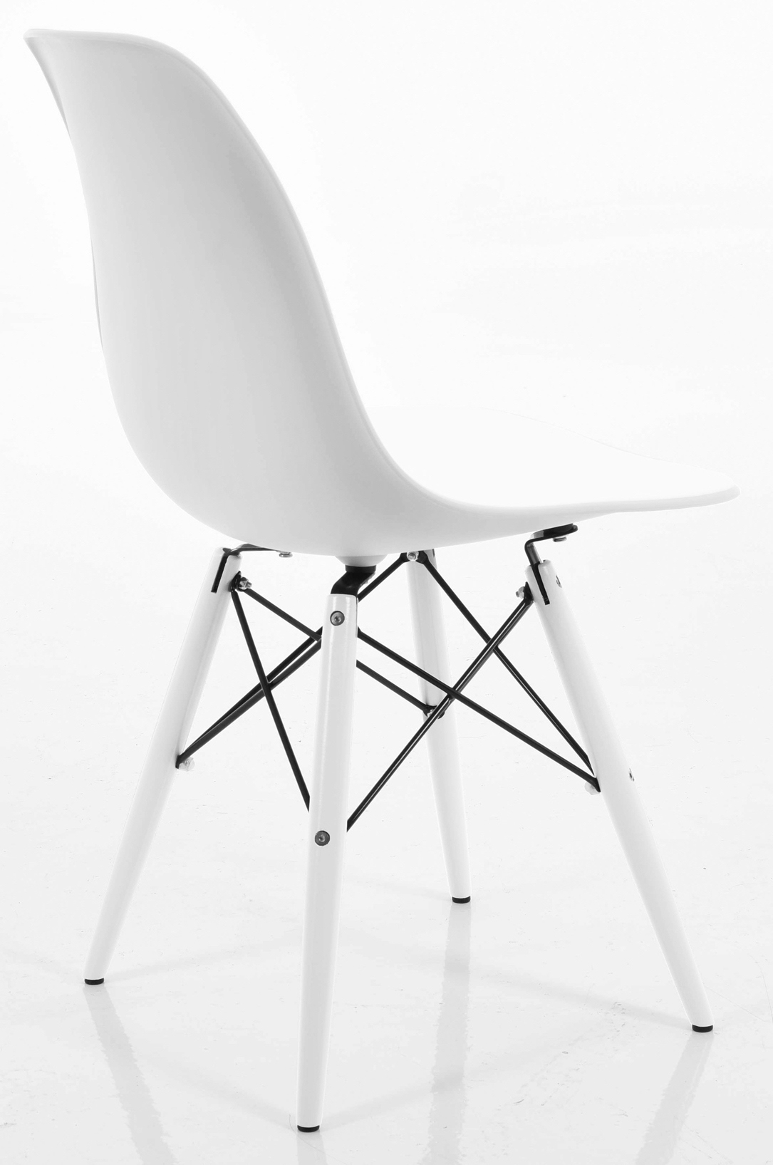 ... Eiffel Chair White With White Seat ...