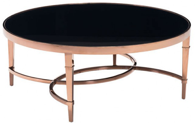 find an awesome contemporary rose gold and black coffee table available for sale at AdvancedInteriorDesigns.com