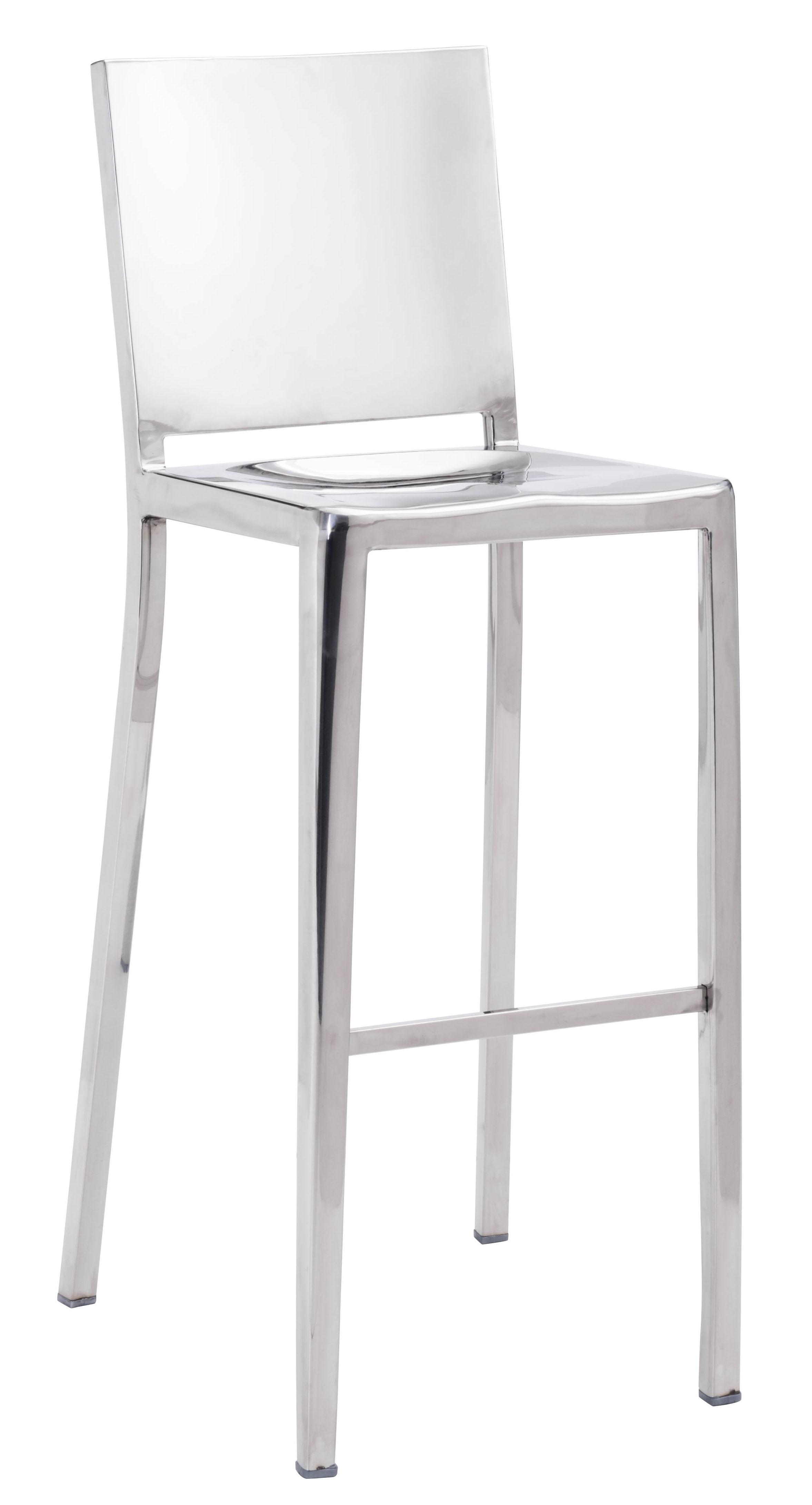Zuo Fall Bar Chair Stainless Steel 29 9 Quot Zuo Modern Bar