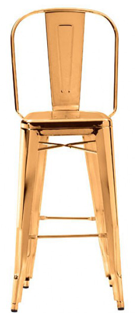 the front view of elio bar chair