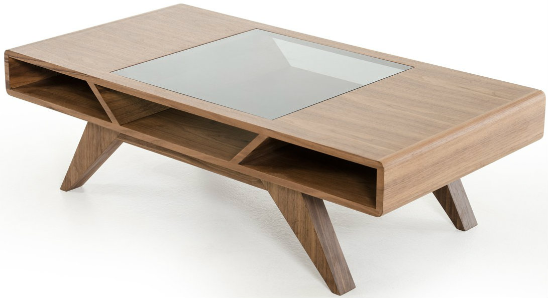 low priced glass walnut coffee table available at advanced interior designs