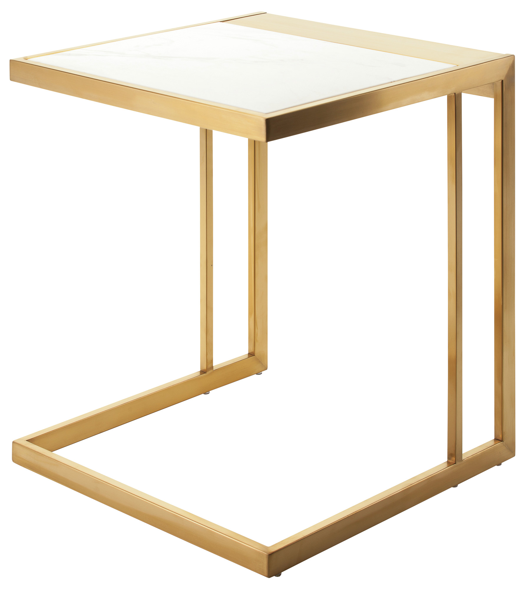 Nuevo Ethan Side Table Modern Side Tables AdvancedInteriorDesigns - Brushed gold side table