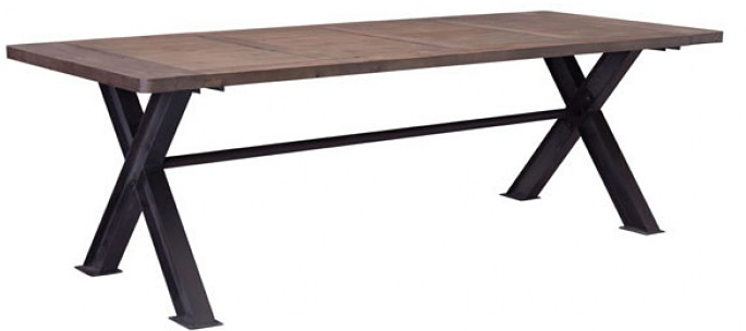 distressed natural dining table seats up to 9 available at AdvancedInteriorDesigns.com