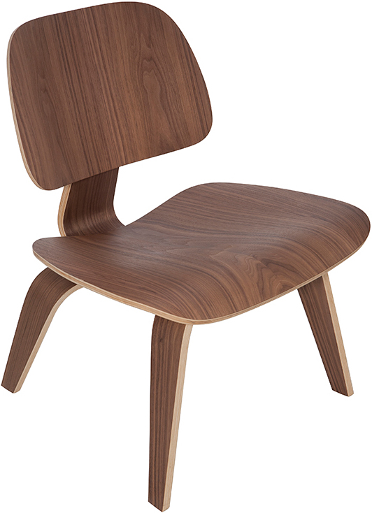 the helena lounge chair in american walnut