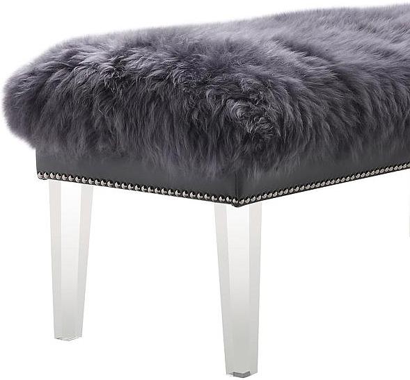 the helena sheepskin bench in grey