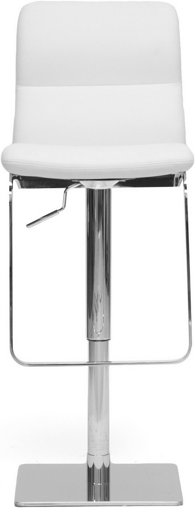 the helsinki modern bar stool in white
