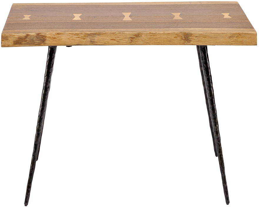 nexa end table smoked oak