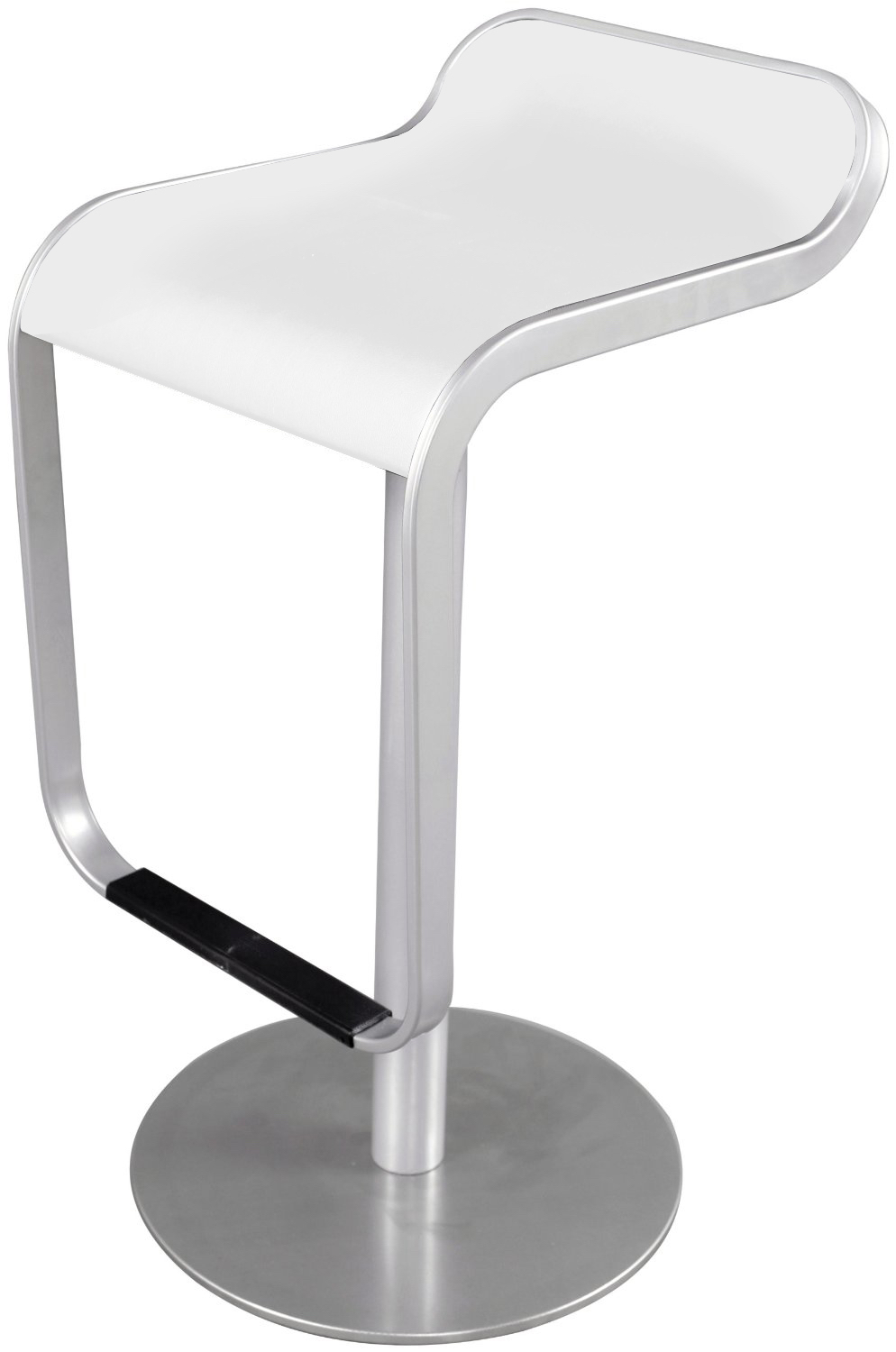Delicieux Lem Stool In Brushed Frame White Seat ...