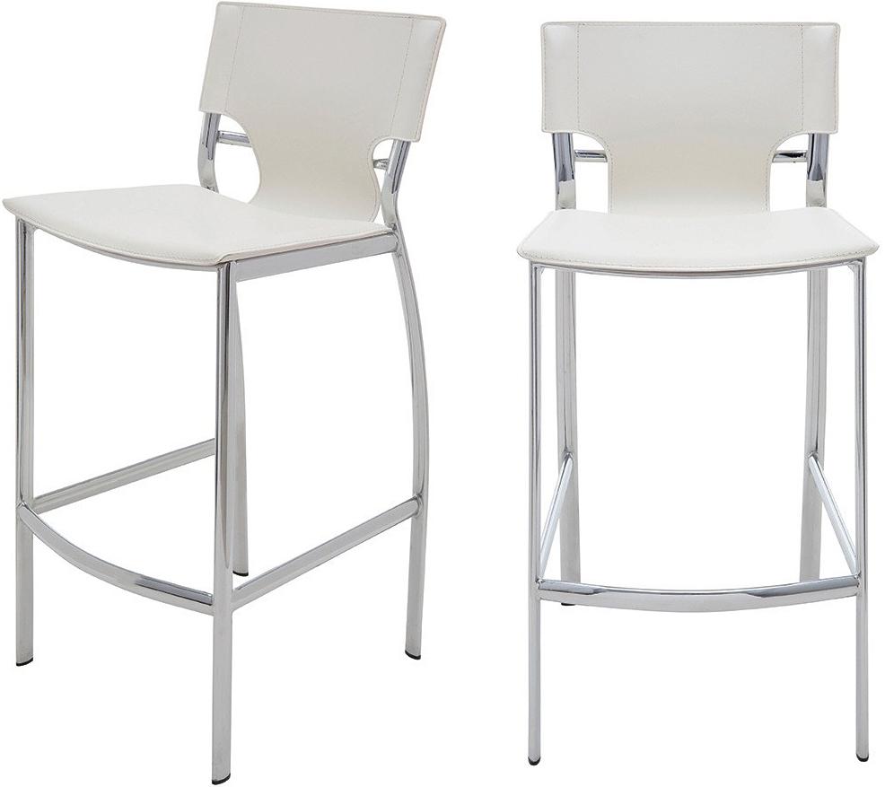 the lisbon bar stool in white